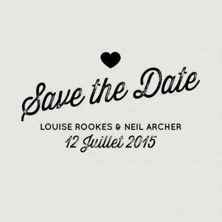 tampon save the date neil (35€)