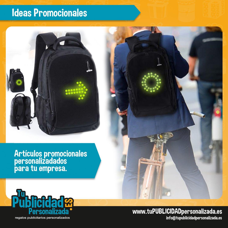 Ideas para promocionar tu negocio. Mochila con indicador led!!!. Haz ... 4ab3ca5d977c