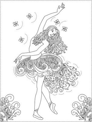 ballet coloring pages for adults - photo#25