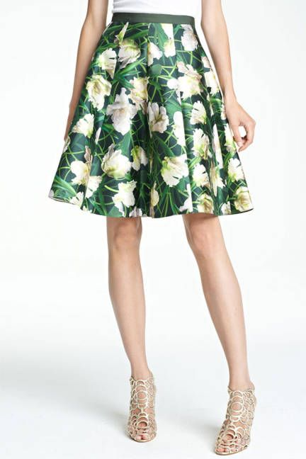 Floral Skirt Oscar de la Renta