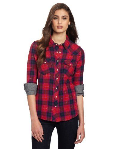 56c8c80f34cb Levi's Juniors Annie Western Top Levi's. $68.00. 100% cotton. Made in Sri  Lanka. Long sleeve. Machine Wash. Saw tooth styling