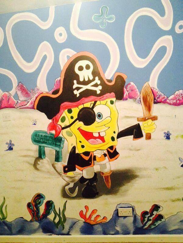SpongeBob Wall art hand painted bespoke art www.facebook.com ...