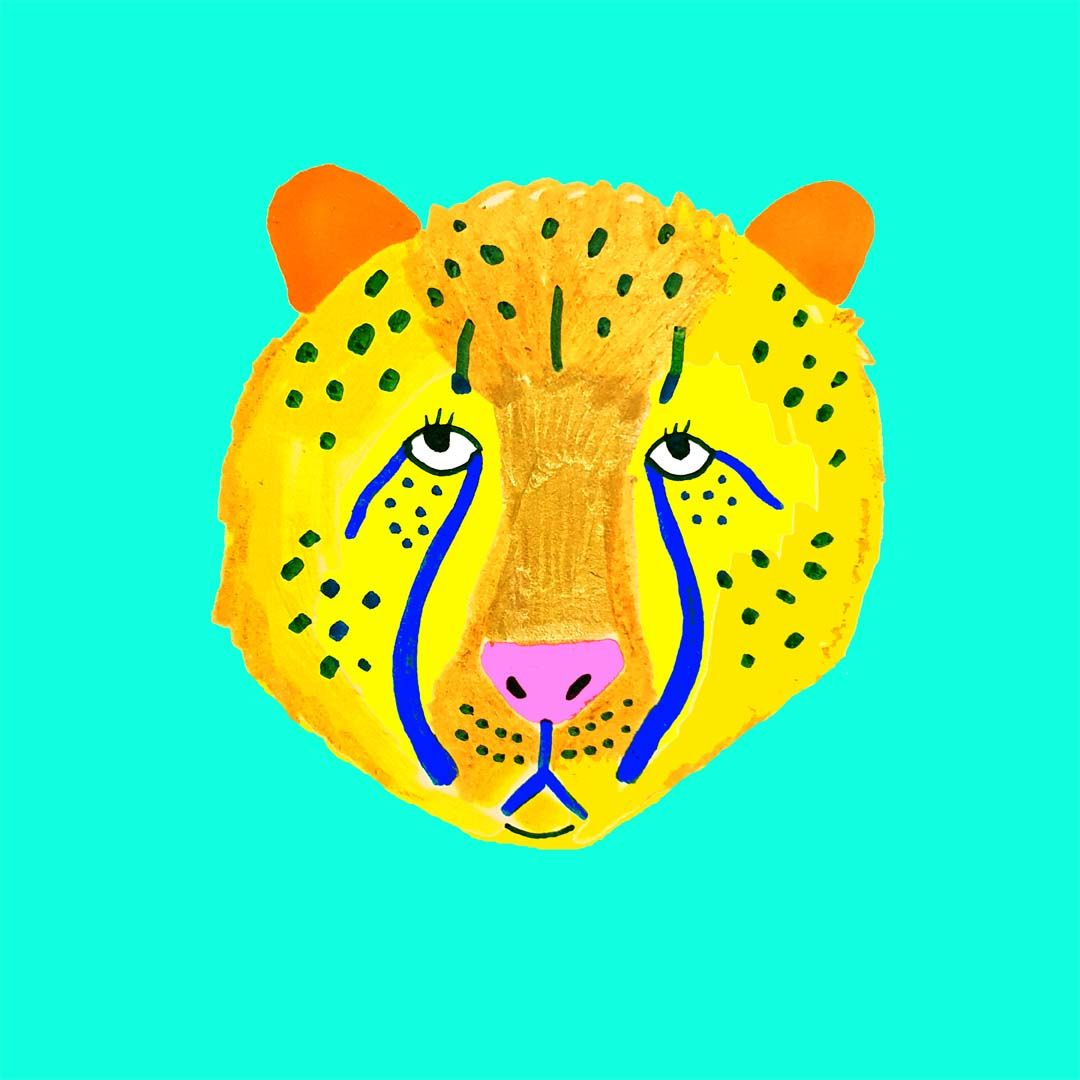Cheetah Illustration By Ashley Percival Cheetah Art Print