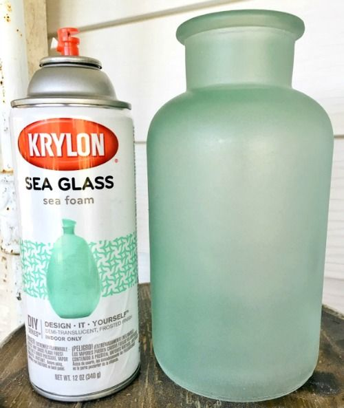 Photo of Sea Glass Paint Spray or Brush to Give Bottles, Vases & Jars the Frosted Seaglass Look