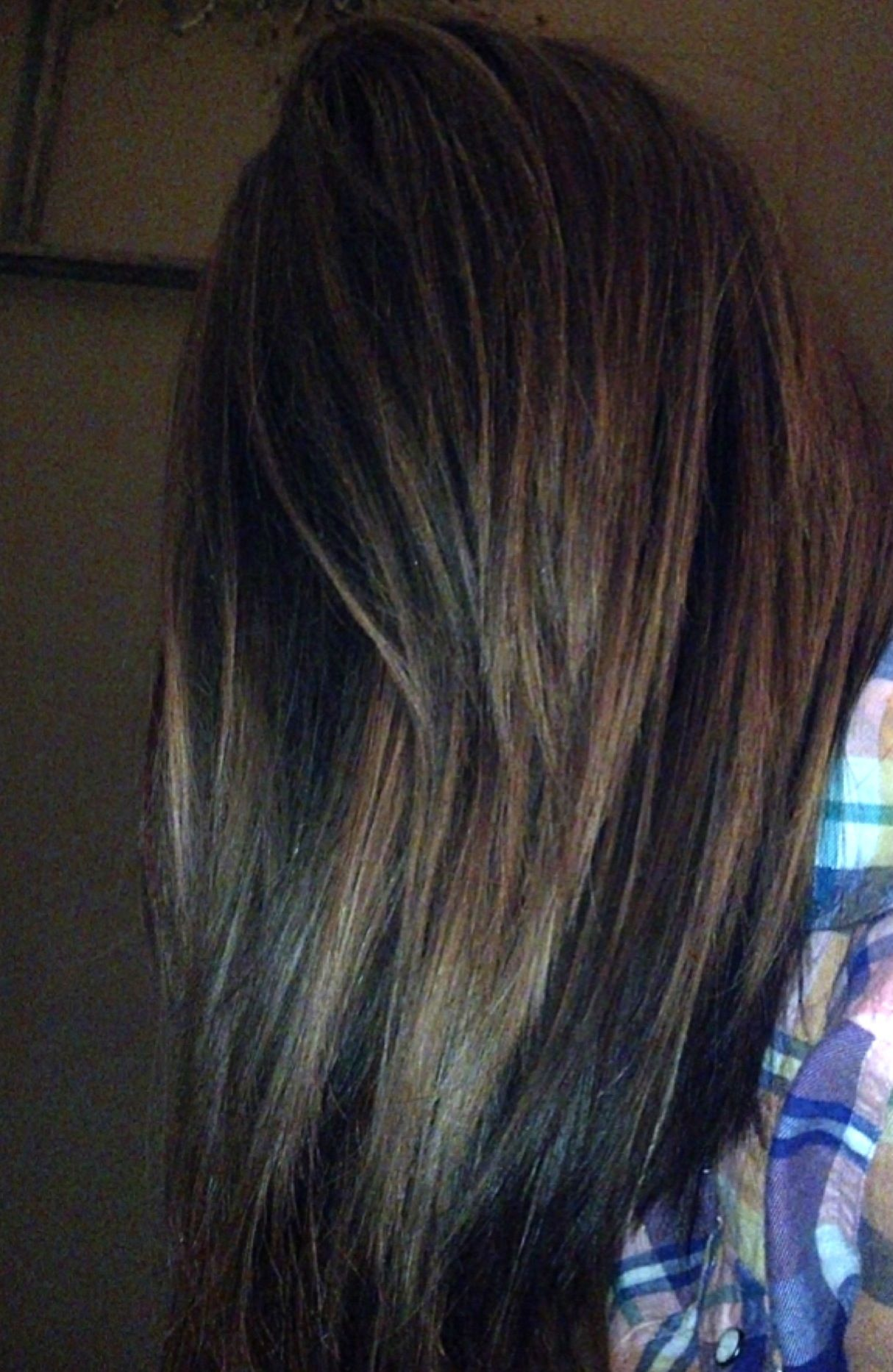 Brown Hair Red Low Lights