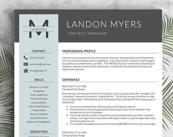 modern resume template for word and pages 2 3 page resumes cover letter icons - Modern Resumes