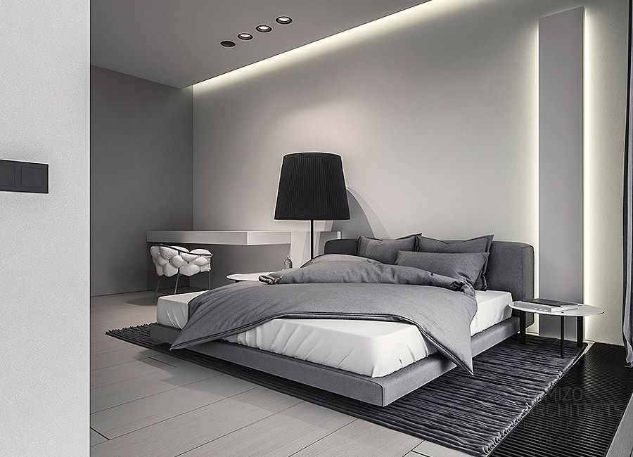 Q House Single Family House Interior Design Grudziadz Home Bedroom Modern Master Bedroom Bedroom Design Minimalist bedroom color view images