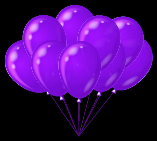 Transparent Purple Balloons Clipart | Imágenes cumpleaños ...