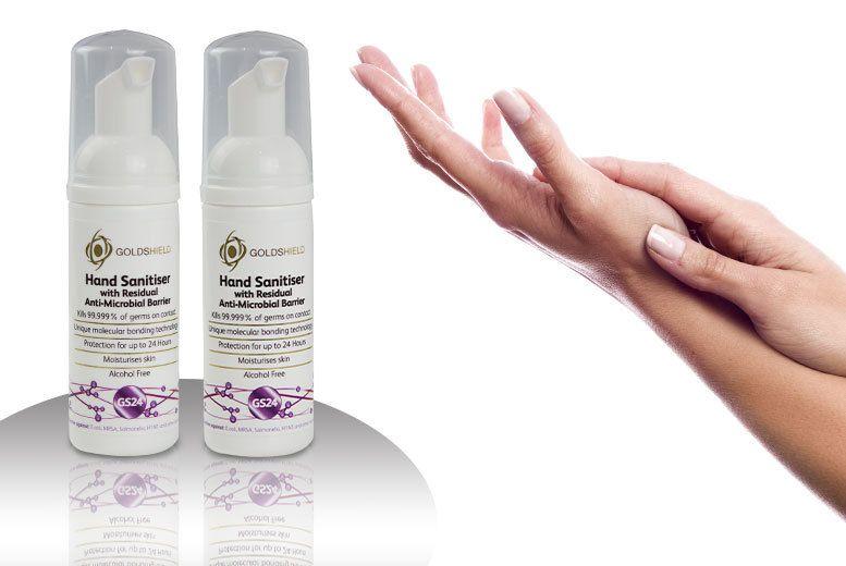 2x 50ml Hand Sanitiser Hand Sanitizer Sanitizer Moisturizer