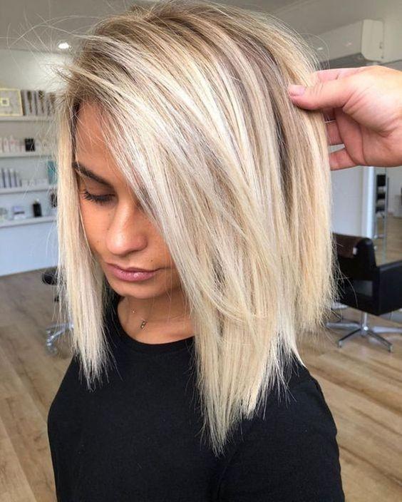 Blonde Frisur Frisur Blonde Frisur Schulterlang Haarschnitt Haarfarbe Blond Tolle Kurzhaarschnitte