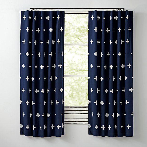Positive Blue 96 Blackout Curtain The Land Of Nod Blue