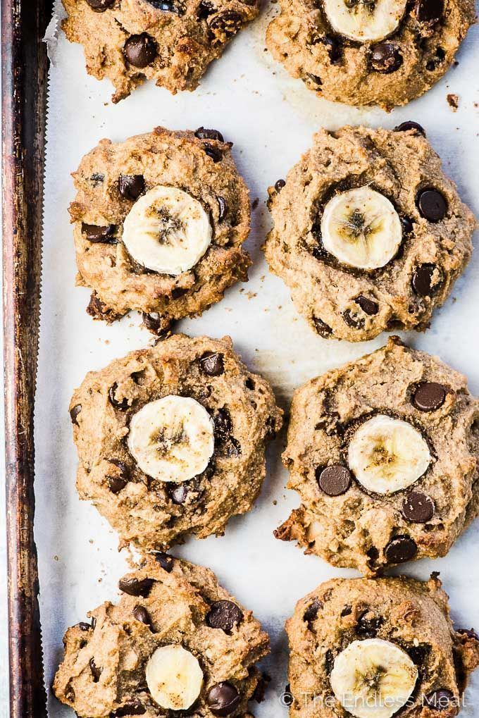Chunky Money Paleo Banana Cookies are chewy and flavourful healthy cookies that are completely grain-free. They taste like dessert but are full of good for you ingredients making them perfect for busy weekday mornings.   vegan + paleo + gluten-free + refined sugar-free  