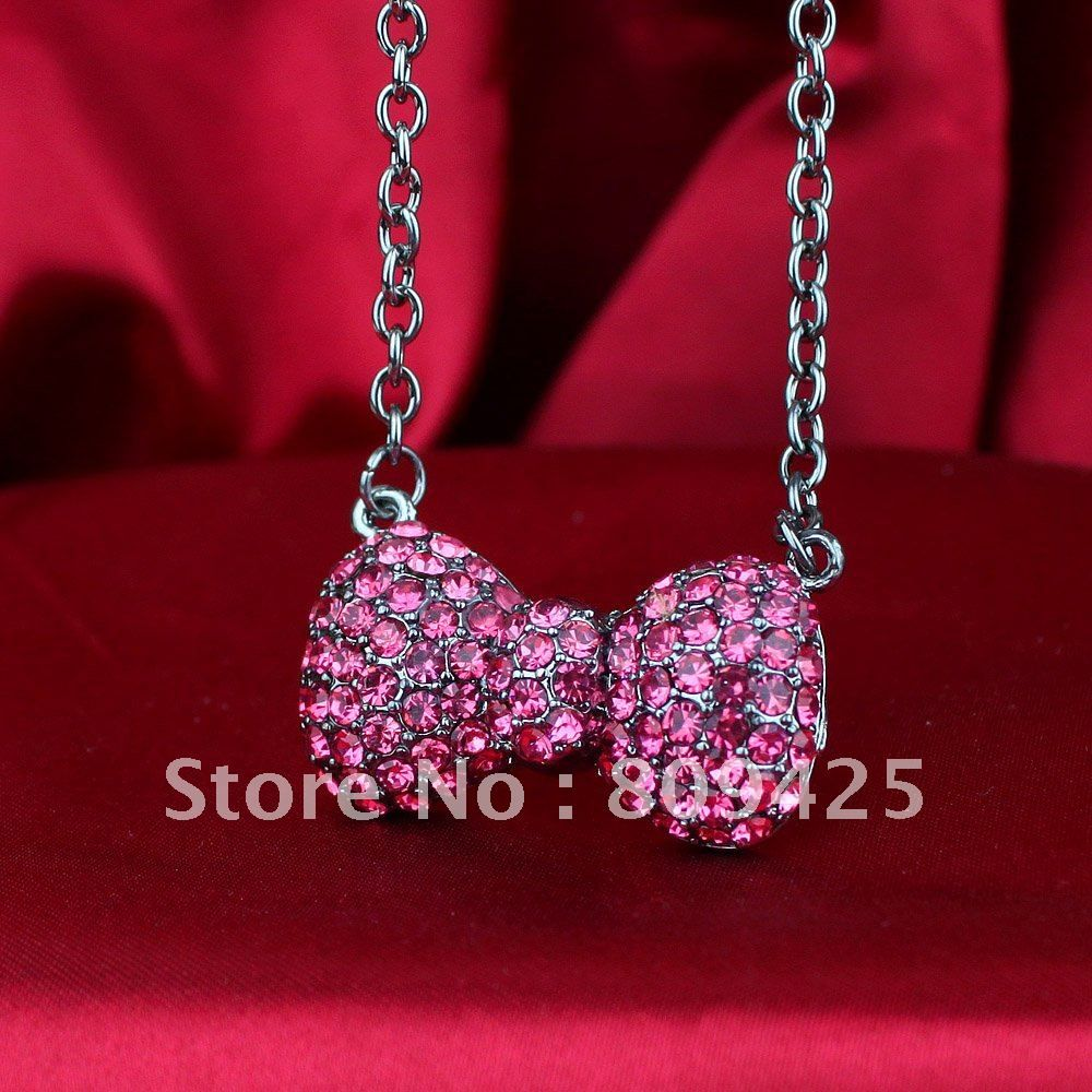 fc434ded5 wholesale,Free Shipping,wholesale hello kitty jewelry, hello kitty jewelry  cheap gold bow with free jewelry gift 17pcs a lot-in Pendant Necklaces from  ...