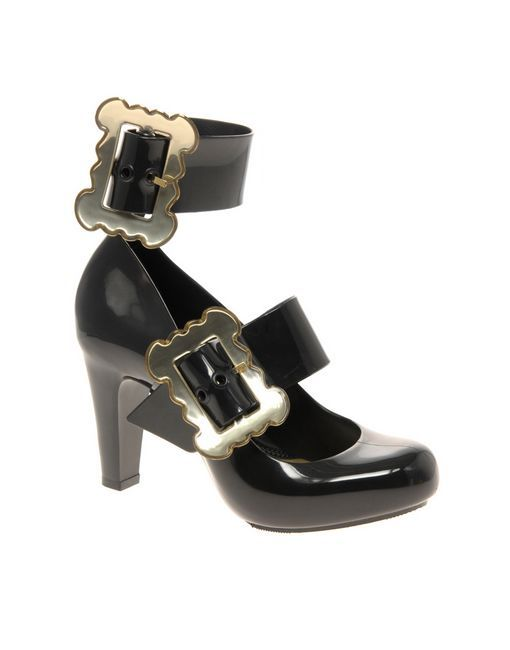 1b6fa953ebb Vivienne Westwood Anglomania For Melissa Temptation Buckle Heeled Shoes 11