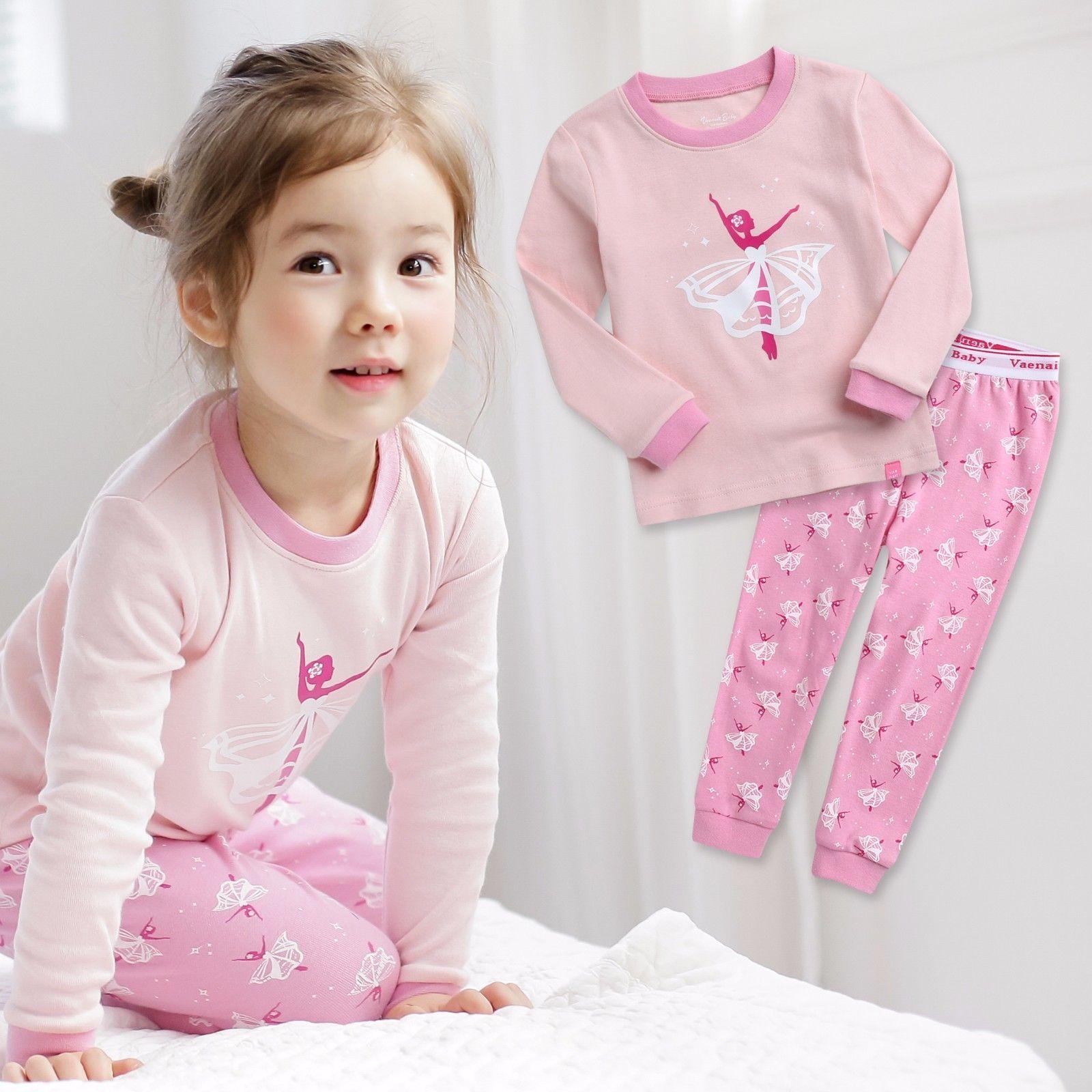"Vaenait Baby Toddler Kids Girls Clothes Pajama Sleepwear Set /""Ballerina/"" 12M-7T"