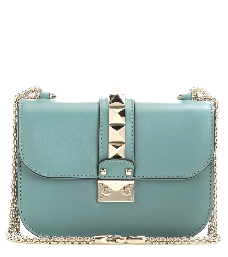 14ab0c9a9 VALENTINO - Lock Small leather shoulder bag - Valentino's Lock bag is a  cult classic. We love the compact shape and signature chain shoulder strap,  ...