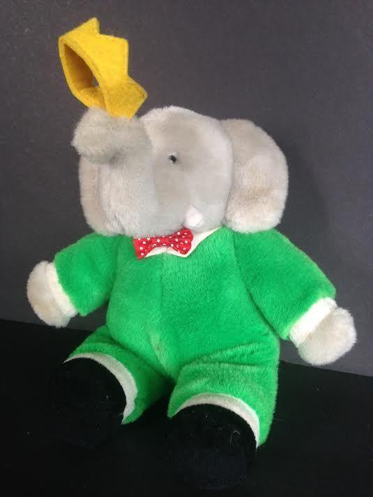 Kindergund Babar The Elephant musical Plush wind up Kinder gund Vintage 1988 #Kindergund