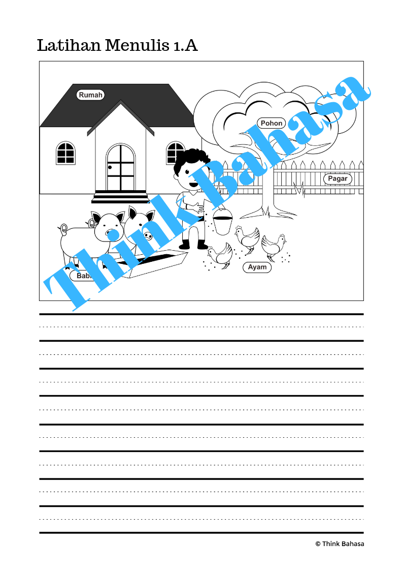 Indonesian Writing Activities With Picture Prompts With Indonesian Vocabulary Picture Prompts Sequencing Words Writing Practice
