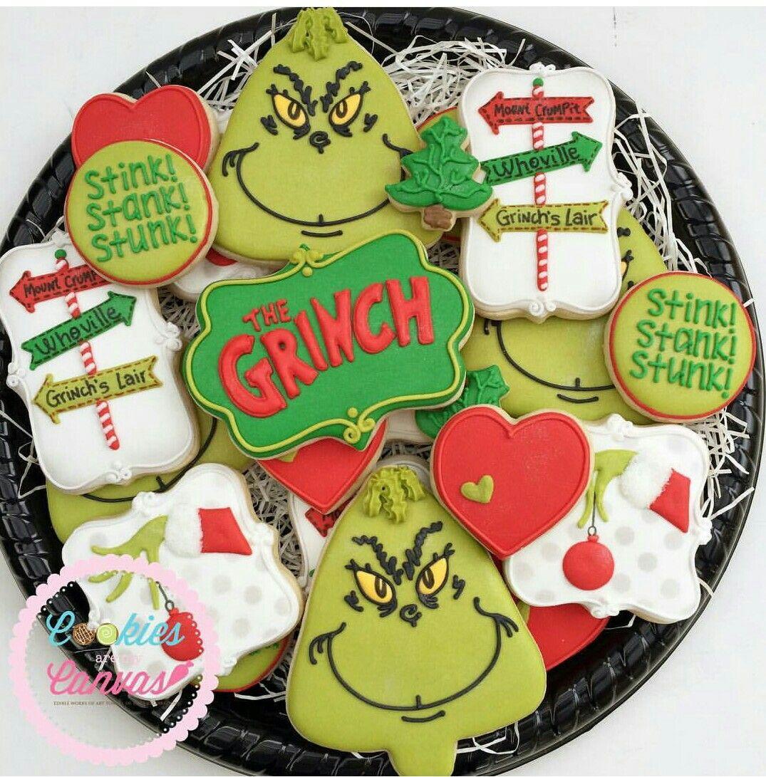 Grinch Sugar Cookies Cookies In 2019 Grinch Cookies Christmas