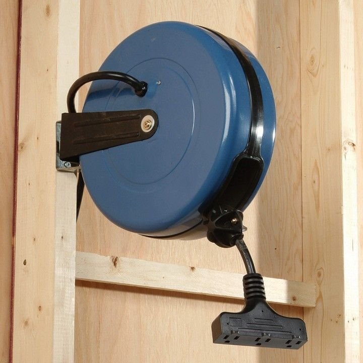 Light Up Your Garage Creatively: Rockler 12-Gauge Retractable Extension Cord Reel