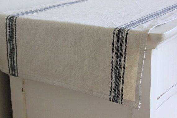 Striped Cotton Table Runner  -- need something to protect the top of the buffet. should be casual and washable.