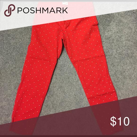 Red polka dot pants Red and white polka dot pants. Size 8 regular Old Navy Pants