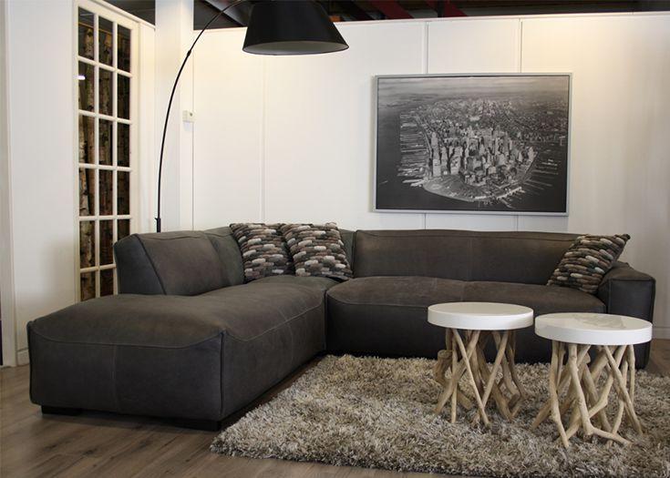 Antraciet Grijs Leren Bankstel.Hoekbank Sharp Xxxl Banken Furniture Couch En Living Room