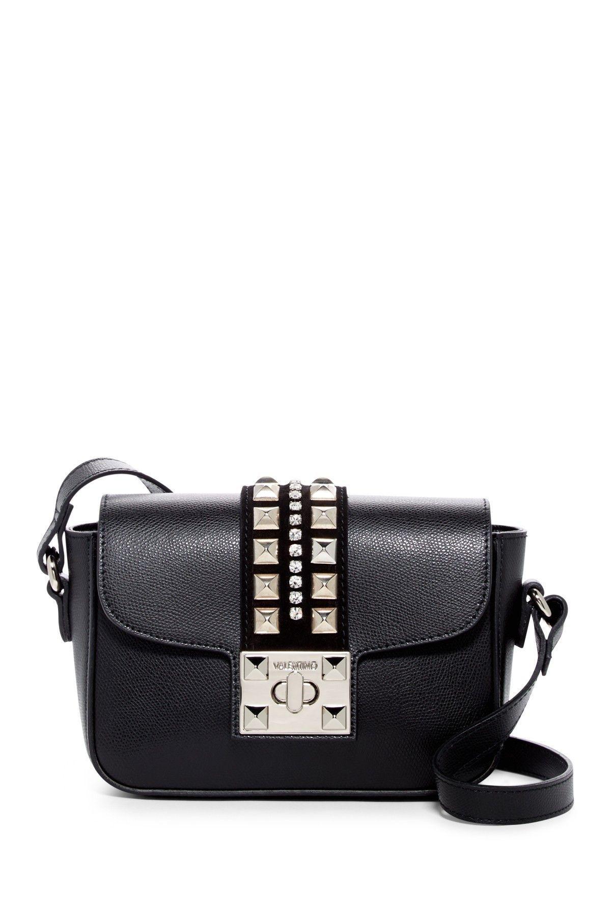 37fa11eb2d4d Valentino By Mario Valentino Yasmine PLMLTO Black Leather Crossbody Bag  #leathercrossbodybag