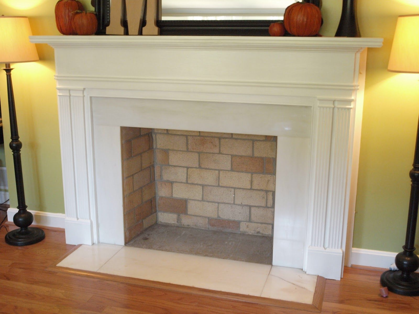 Fall is in the air and on the mantel Cardboard fireplace