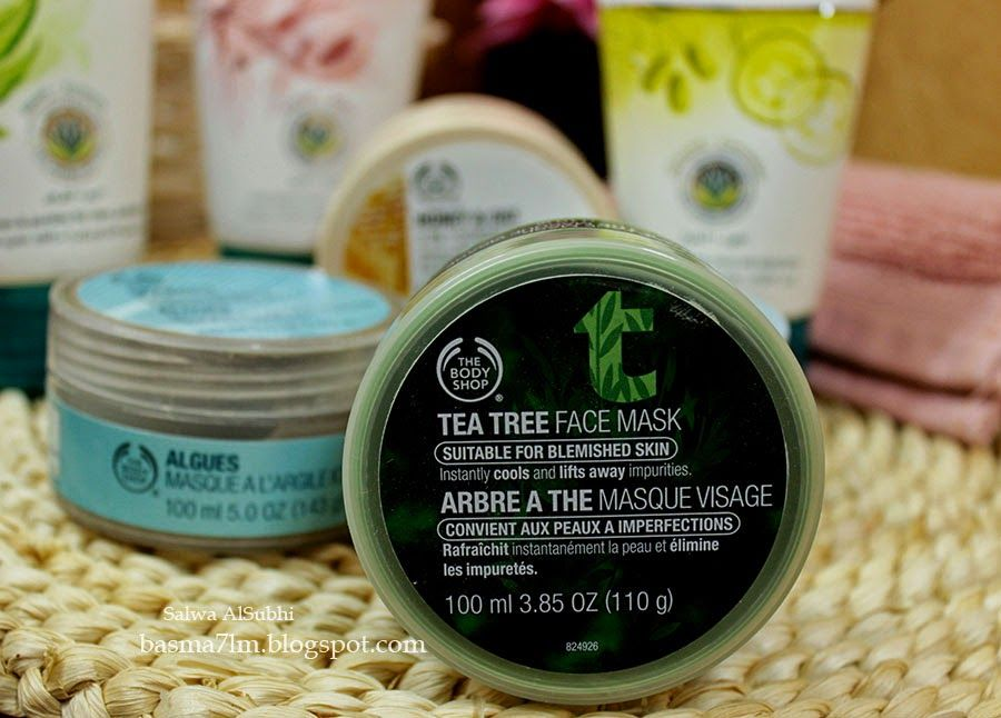 بسمة حلم أساسيات العناية بالبشرة الأقنعة Basics Skin Care Masks Tea Tree Face Mask Body Shop Tea Tree The Body Shop