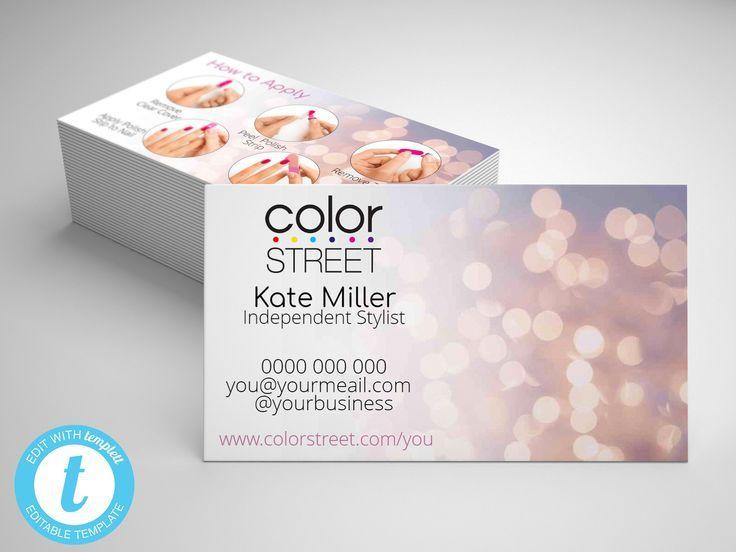Color street business card editable color street