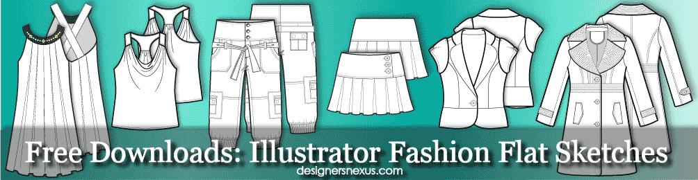 Fashion Technical Drawing 250 Free Fashion Flat Sketches Fashion Design Portfolio Fashion Design Template Fashion Flats