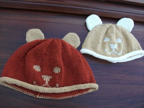 Unisex hand knitted bear hat,  any size or colour,  made to order