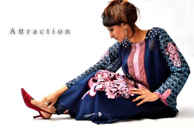 Attraction by Kamal Women Party Outfits 2013-14