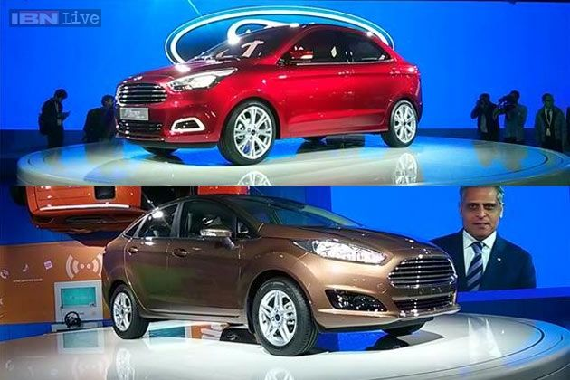 Auto Expo 2014 Ford Unveils New Fiesta Figo Concept Sedans News India Latest News Headlines Live News