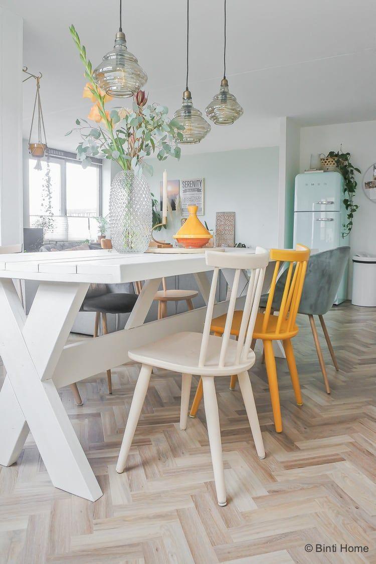 Eettafel Wit Design.Houten Eettafel Wit Verven Voor Onze Eetkamer Make Over Kitchen