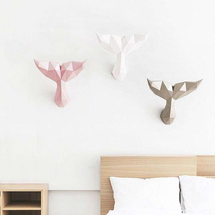 Decorazioni strane per pareti interne francy d co origami papier 3d e papier carton - Decorazioni per pareti interne ...
