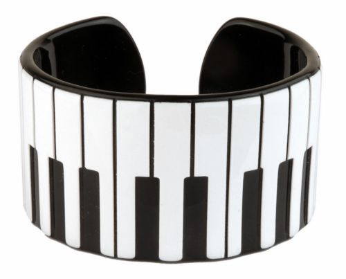 Piano Keyboard bangle/bracelet from Primark