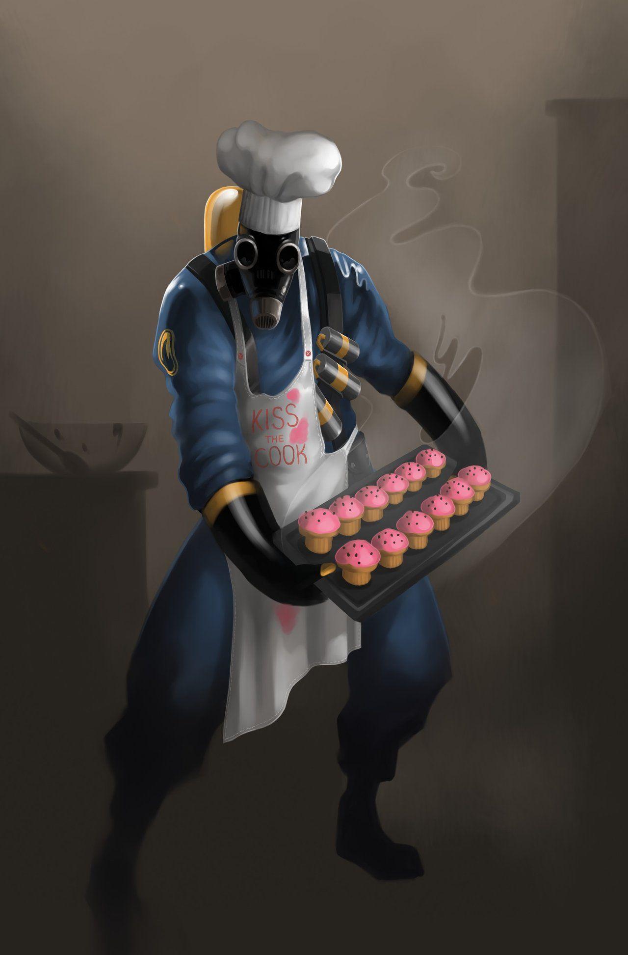 Cupcakes by vilssonify.deviantart.com #TF2 Pyro