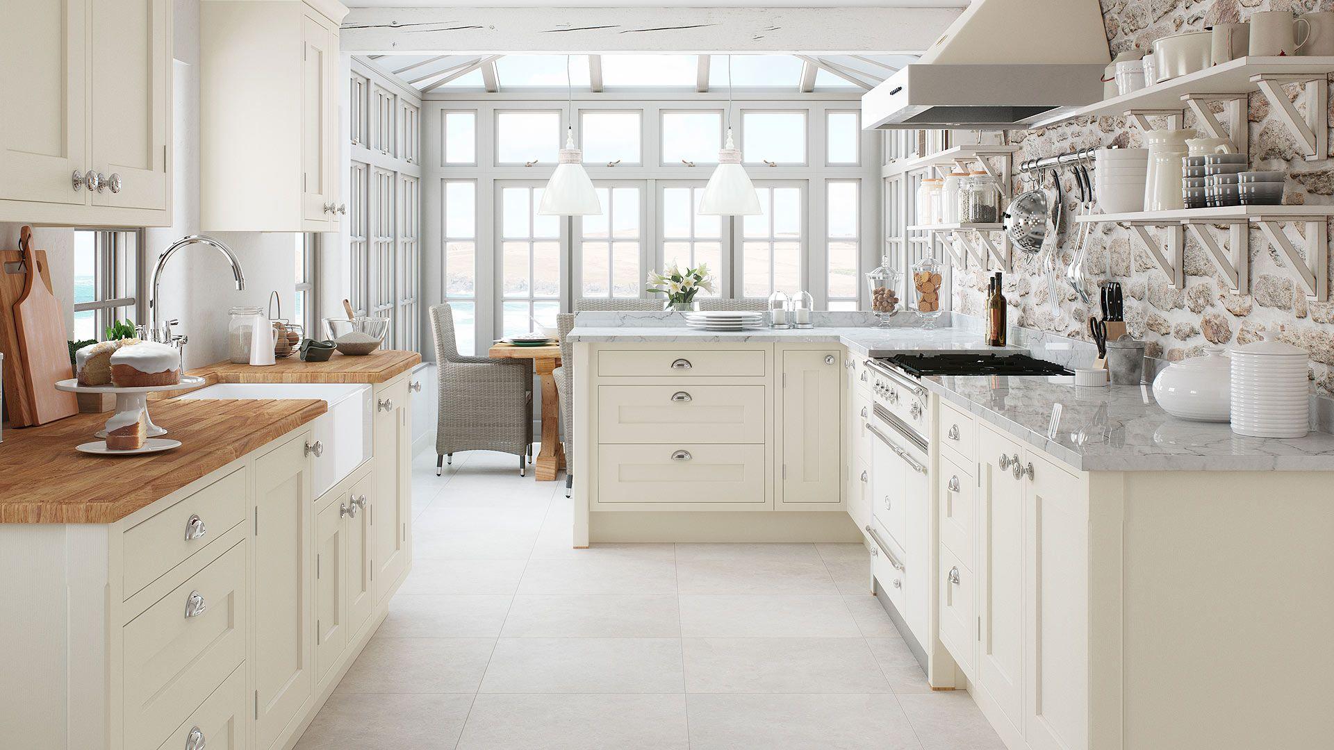 Baystone Cream Shaker Inframe Ash Kitchen   First Impressions ...