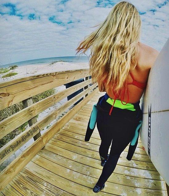 surf, sunny, warm, bright