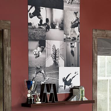 Beth  For Boltonu0027s Room Soccer Collage Wall Mural #pbteen · Soccer PosterPottery  Barn ...