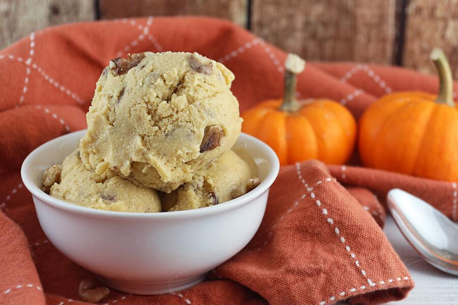 Pumpkin Pecan Pie Ice Cream #ketoicecream