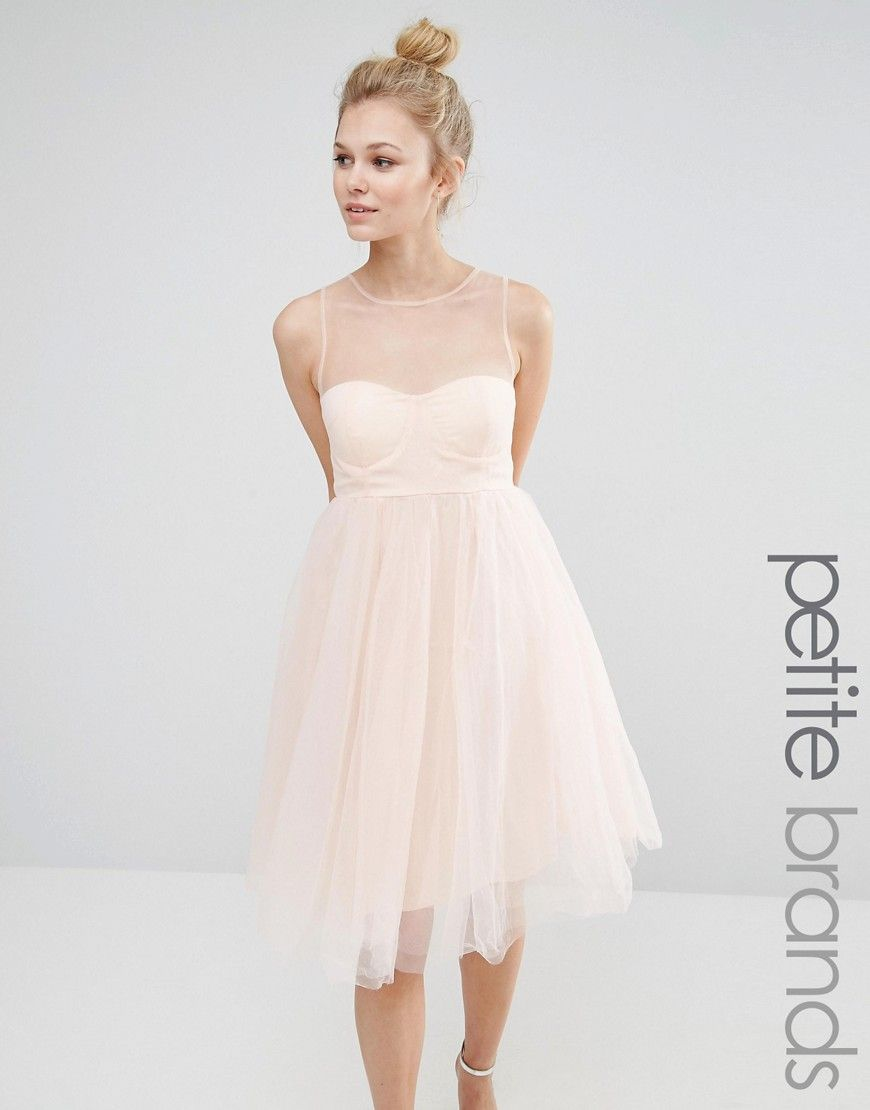 Image of boohoo petite sweetheart tulle prom dress donut mesh