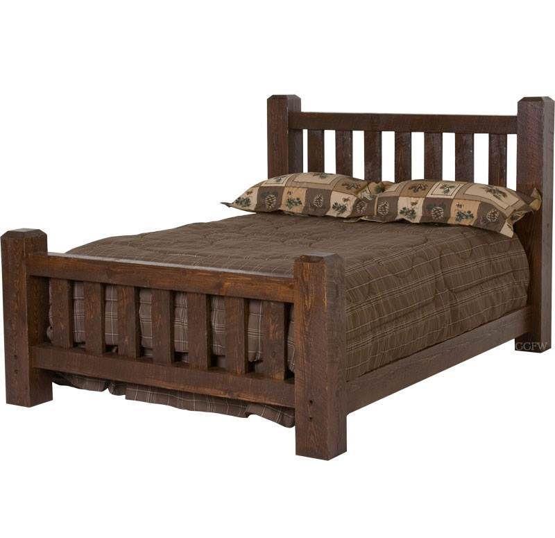 Barnwood Beds | Camas y burós fabricación y estilo | Pinterest ...