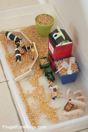 Farm Sensory Play Activity for Preschoolers - Frugal Fun For Boys and Girls