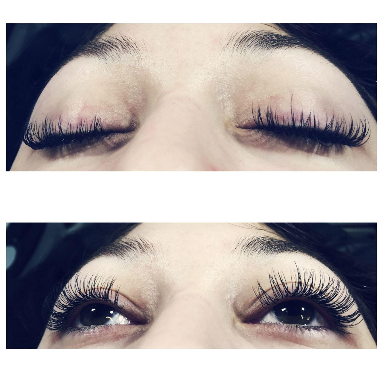 8fe85ad8a49 Fun, flirty, curly eyelash extensions I did! | My work! | Eyelashes ...
