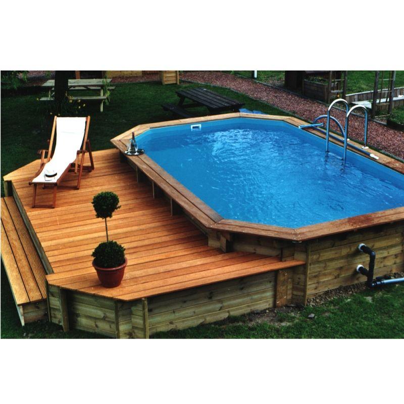 Ocea 39 pool octogonale allongee piscina fuori terra in legno img 2 piscine pinterest - Piscine fuori terra in legno ...