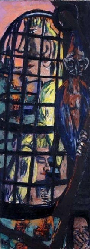Max Beckmann - Perseus Triptychon Rechts (1941)