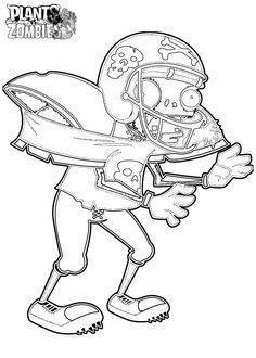 Free Printable Plants Vs Zombies Coloring Pages For Kids  Stuff
